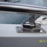 Изготовление лееров и тентовых конструкций на моторной яхте Принцесса.
